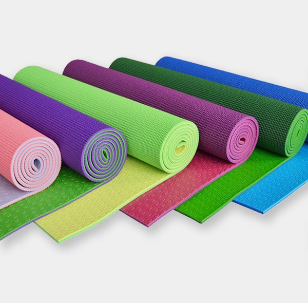 TPE eco-friendly and tasteless two-color dot yoga mat