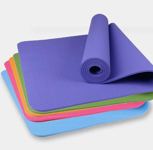 Pure color leaf tpe yoga mat