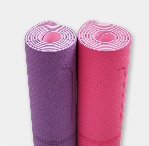 Two-color posture line yoga mat